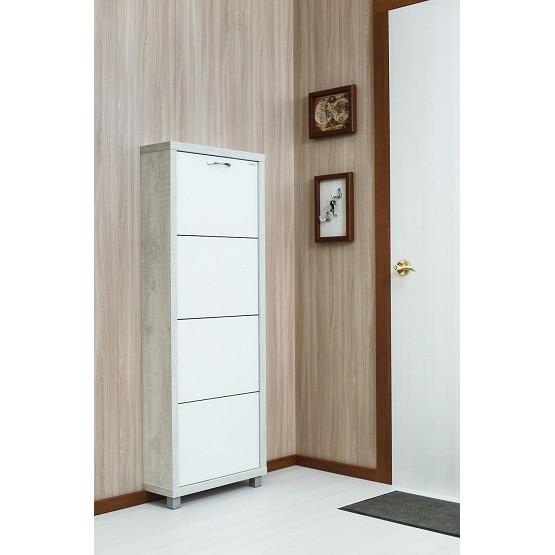 Шкаф Плюс, стекло белое, 4-х секционные