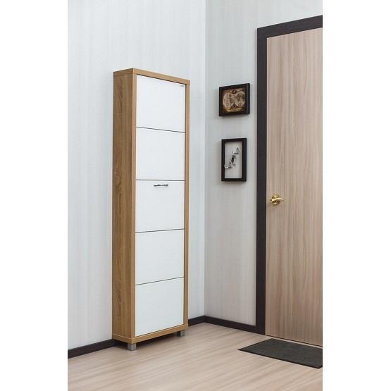 Шкаф Люкс, стекло белое, 5-ти секционные