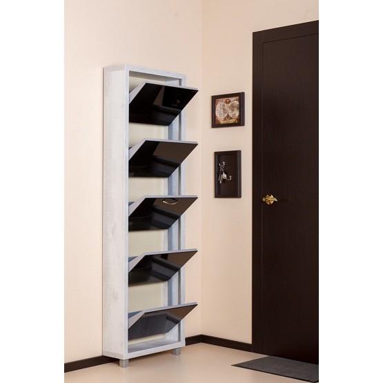 Шкаф Плюс, стекло черное, 5-ти секционные