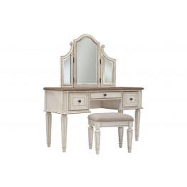 Realyn, Стол туалетный с зеркалом и пуфом