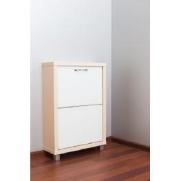 Шкаф Люкс, стекло белое, 2-х секционные