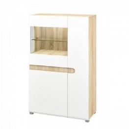 Леонардо белый, Шкаф с витриной МН-026-03