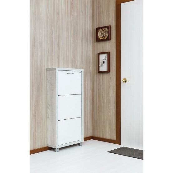 Шкаф Люкс, стекло белое, 3-х секционные